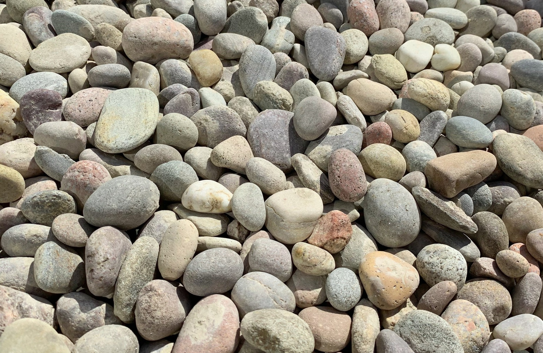 Scottish river pebbles